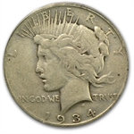 1934-S Peace Dollar Very Fine-25 PCGS